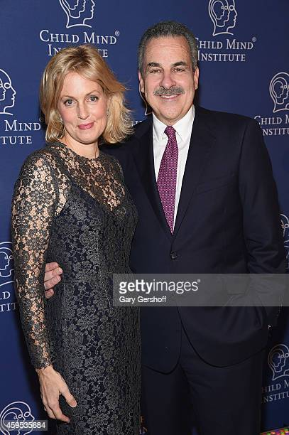 Event host Ali Wentworth and President and cofounder of Child Mind Institute Dr Harold S Koplewicz attend the 2014 Child Mind Institute Awards Dinner...