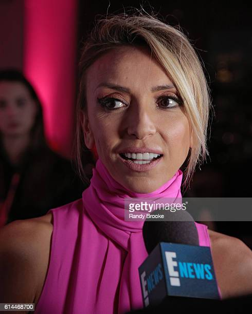 Event host and TV presonality Giuliana Rancic being interviewed during The Pink Agenda 2016 Gala arrivals at Three Sixty on October 13 2016 in New...