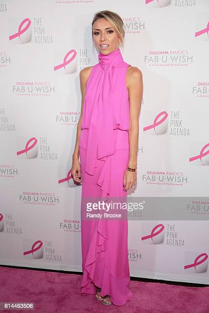 Event host and TV presonality Giuliana Rancic poses during The Pink Agenda 2016 Gala arrivals at Three Sixty on October 13 2016 in New York City