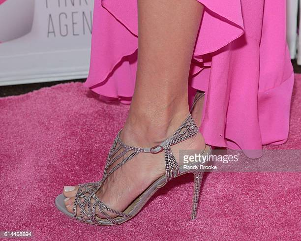 Event host and TV presonality Giuliana Rancic's shoe detail during The Pink Agenda 2016 Gala arrivals at Three Sixty on October 13 2016 in New York...