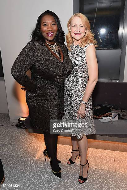Event host Bevy Smith and event chair Patricia Clarkson attend Housing Works' Fashion for Action 2016 at Freds at Barneys New York Downtown on...