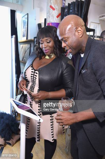 Event host Bevy Smith and Ryan Tarpley attend Housing Works' Fashion for Action 2017 charity event on November 16 2017 in New York City