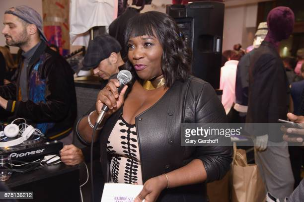 Event host Bevy Smith speaks during Housing Works' Fashion for Action 2017 charity event on November 16 2017 in New York City