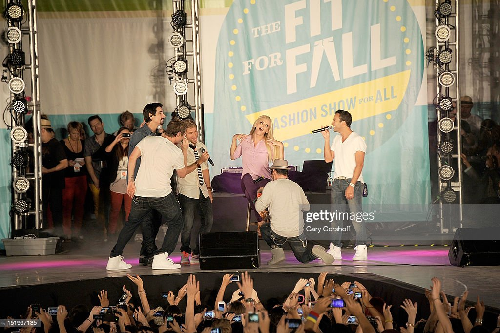 Event Host Jenny Mccarthy And The Backstreet Boys Perform On Stage