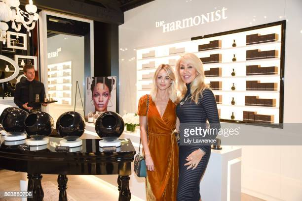 Event host Kaitlynn Carter with Linda Thompson at ELLE The Harmonist celebrate fragrance and feng shui on October 12 2017 in Los Angeles California