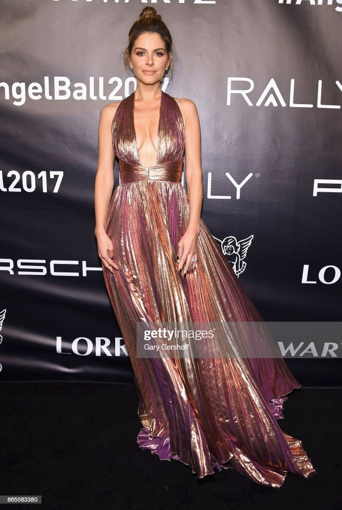 Event host Maria Menounos attends Angel Ball 2017 at Cipriani Wall Street on October 23, 2017 in New York City.