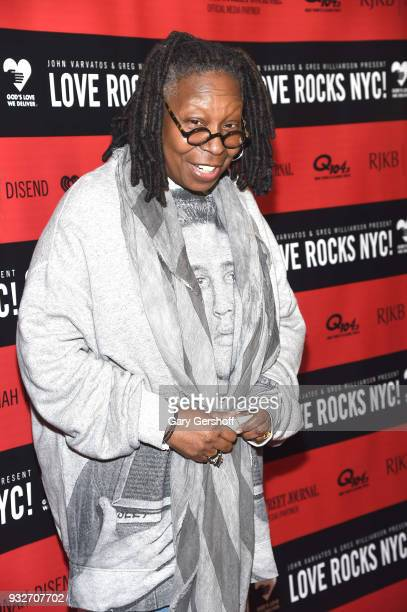 Event host Whoopi Goldberg attends the 2nd Annual Love Rocks NYC concert benefitting God's Love We Deliver at the Beacon Theatre on March 15 2018 in...