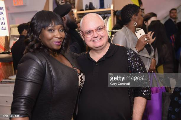 Event hosts Bevy Smith and Mickey Boardman attend Housing Works' Fashion for Action 2017 charity event on November 16 2017 in New York City