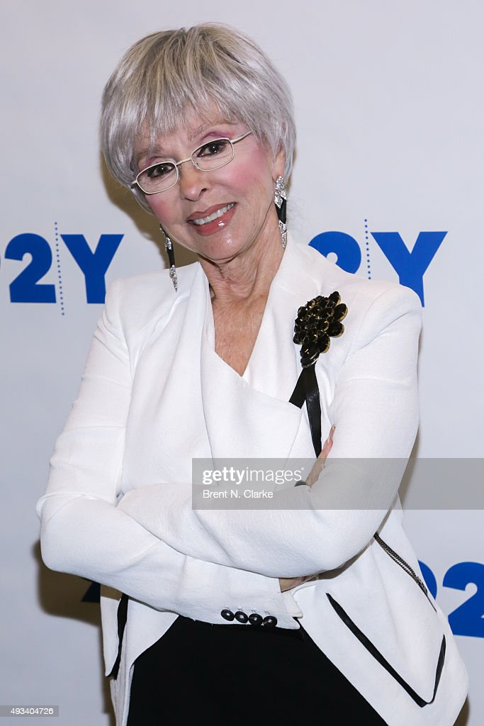 Event moderator Rita Moreno attends Gloria and Emilio Estefan In Conversation with Rita Moreno held at the 92nd Street Y on October 19, 2015 in New York City.