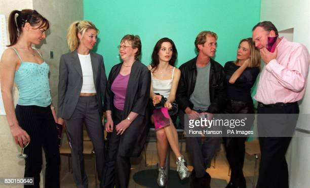 Event organiser Christine Whiteside and director Bill Cartlidge with actors from left Tara Palmer Tomkinson Tamara Beckwith Karen Hayley James Wilby...