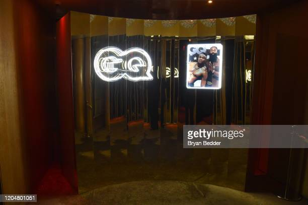 Event signage at the GQ March Cover Party at The Standard Highline on March 01 2020 in New York City