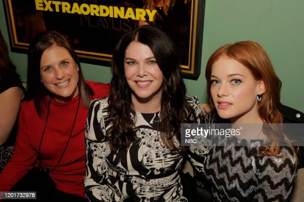 S EXTRAORDINARY PLAYLIST Event SingALong Pictured Lisa Katz CoPresident Scripted Programming NBC Entertainment Lauren Graham Jane Levy at Tramp Stamp...