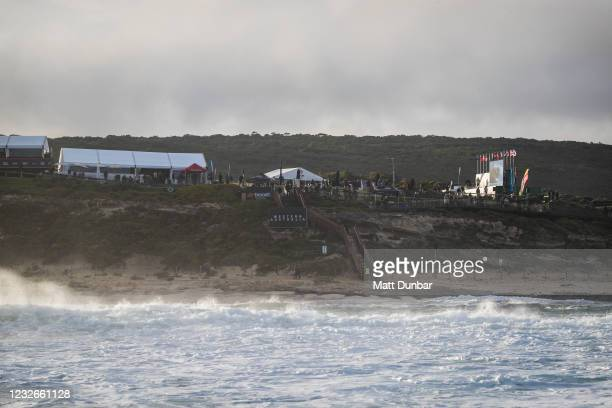 Event site during Heat 11 of Round 1 of the Boost Mobile Margaret River Pro presented by Corona on May 3, 2021 in Margaret River, WA, Australia.