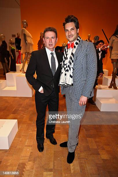 "Event sponsor Eugene Sadovoy and Cameron Silver attend the MOCA Leadership Circle reception and members' opening for ""The Total Look: The Creative..."