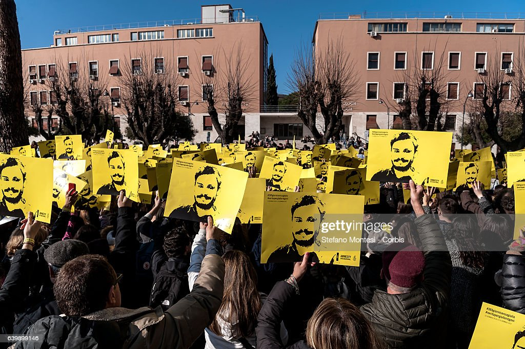 Event in memory of Giulio Regeni in Rome : News Photo