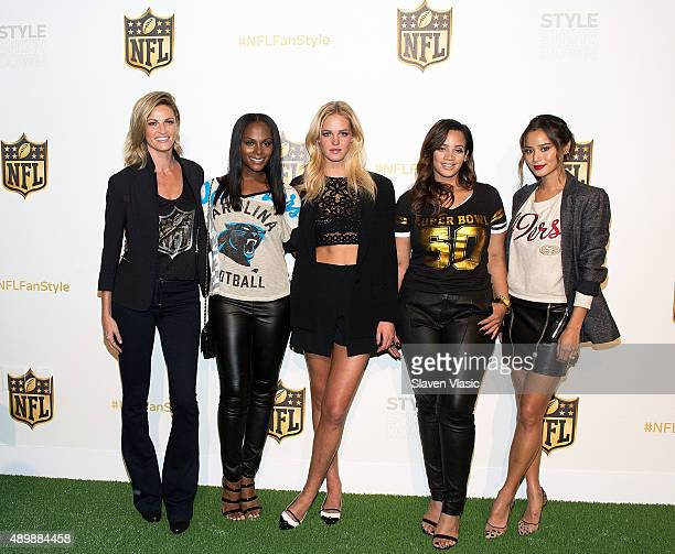 Event's host Erin Andrews actress/model/NFL ambassador Tika Sumpter supermodel/Northwest brand and NFL ambassador Erin Heatherton OITNB star/NFL...