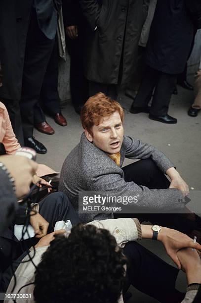 Demonstrations Les évènements de mai 68 à Paris dans une salle Daniel COHNBENDIT alias 'Dany le rouge' 23 ans étudiant en sociologie allemand et...