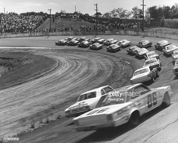 Eventual race winner David Pearson leads the field as they prepare for the Fireball 300 NASCAR Cup race at AshevilleWeaverville Speedway Richard...