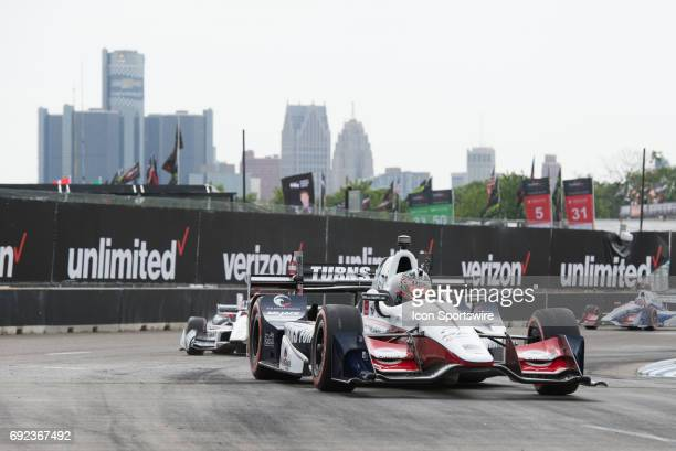 Eventual race winner Graham Rahal during the Chevrolet Detroit Grand Prix Race 1 on June 3 on the streets of Belle Isle in Detroit Michigan