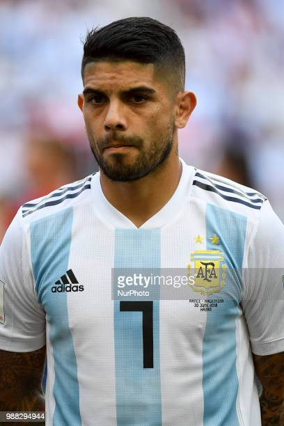 Ever Banega of Argentina during the 2018 FIFA World Cup Round of 16 match between France and Argentina at Kazan Arena in Kazan Russia on June 30 2018