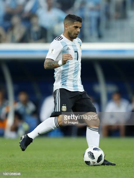 Ever Banega of Argentina during the 2018 FIFA World Cup Russia group D match between Nigeria and Argentina at the Saint Petersburg Stadium on June 26...