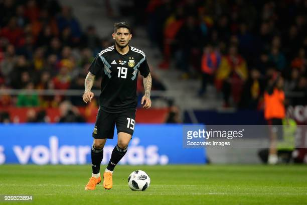 Ever Banega of Argentina during the International Friendly match between Spain v Argentina at the Estadio Wanda Metropolitano on March 27 2018 in...