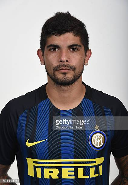 Ever Banega of FC Internazionale poses during the official portrait session at Appiano Gentile on August 16 2016 in Como Italy