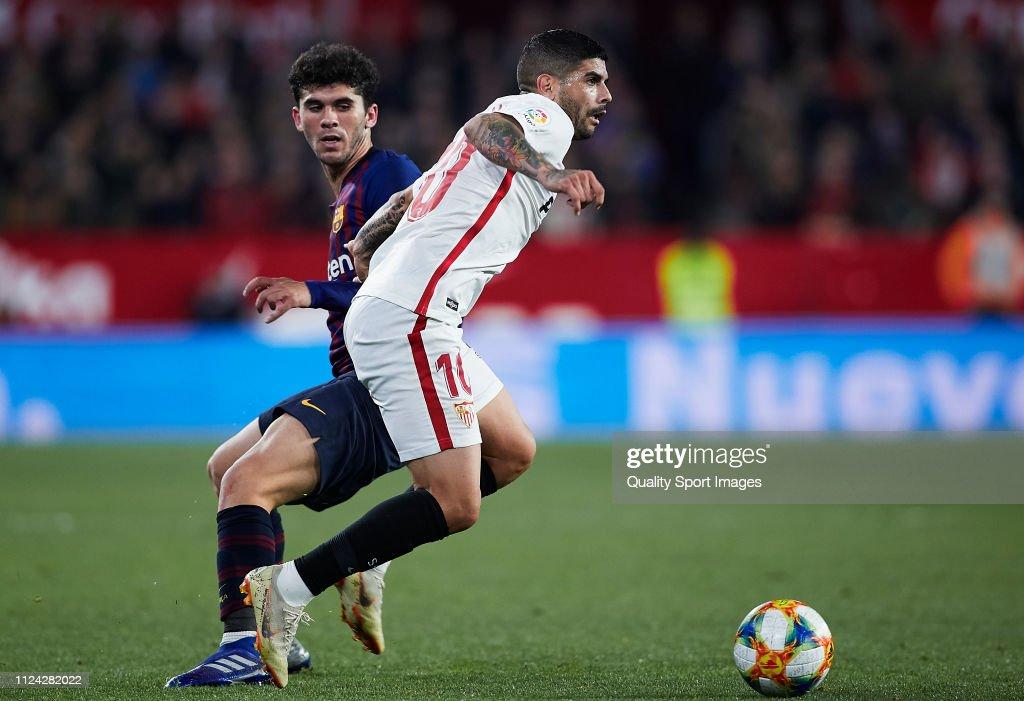 Sevilla v FC Barcelona - Copa del Rey Quarter Final : Fotografía de noticias