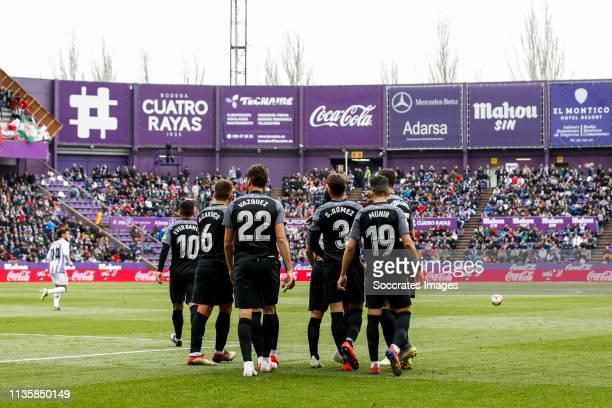 Ever Banega of Sevilla FC Daniel Carrico of Sevilla FC Franco Vazquez of Sevilla FC Sergi Gomez of Sevilla FC Munir of Sevilla FC Wissam Ben Yedder...