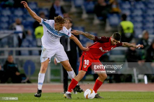 Ever Banega of Sevilla FC during the UEFA Europa League match between Lazio v Sevilla at the Stadio Olimpico Rome on February 14 2019 in Rome Italy