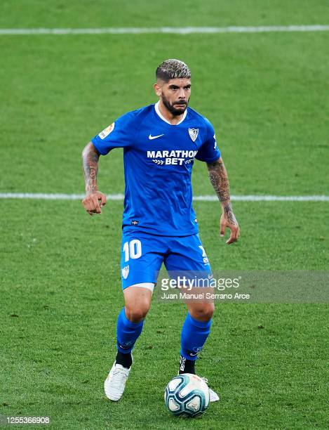 Ever Banega of Sevilla FC in action during the Liga match between Athletic Club and Sevilla FC at San Mames Stadium on July 09 2020 in Bilbao Spain...