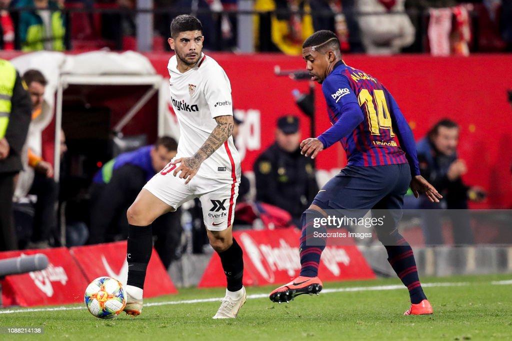 Sevilla v FC Barcelona - Spanish Copa del Rey : Fotografía de noticias