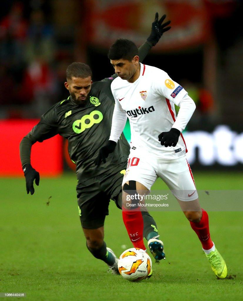 Royal Standard de Liege v Sevilla - UEFA Europa League - Group J : Fotografía de noticias
