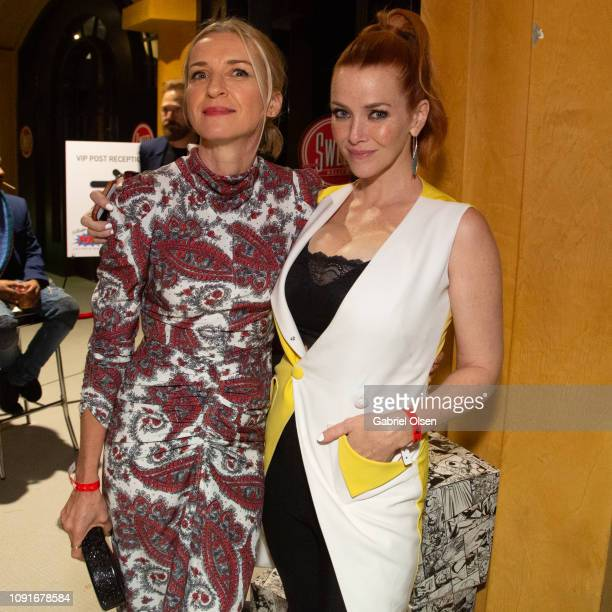 Ever Carradine and Annie Wersching attend Excelsior A Celebration of The Amazing Fantastic Incredible and Uncanny Life Of Stan Lee at TCL Chinese...