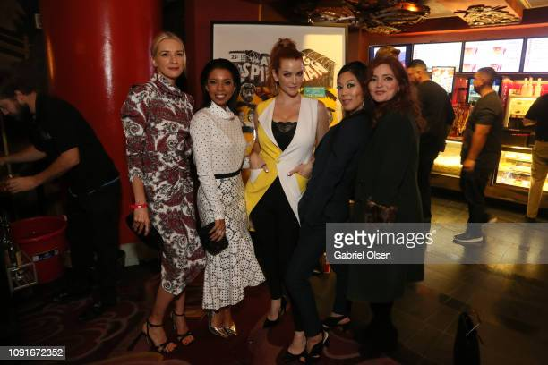 Ever Carradine Angel Parker Annie Wersching and Brittany Ishibashi and Brigid Brannagh arrive for Excelsior A Celebration of The Amazing Fantastic...