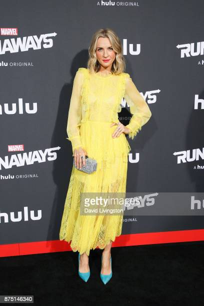 Ever Carradine arrives at the premiere of Hulu's 'Marvel's Runaways' at the Regency Bruin Theatre on November 16 2017 in Los Angeles California