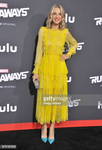 Ever Carradine arrives at the premiere of Hulu's 'Marvel's Runaways' at Regency Bruin Theatre on November 16 2017 in Los Angeles California