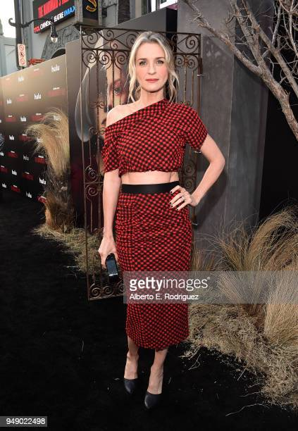 Ever Carradine attends the season 2 premiere of Hulu's 'The Handmaid's Tale' at the TCL Chinese Theatre on April 19 2018 in Hollywood California