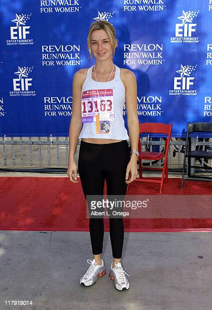Ever Carradine during The 9th Annual Revlon Run/Walk For Women at Los Angeles Memorial Coliseum in Los Angeles California United States