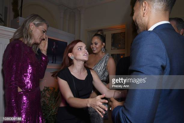Ever Carradine Madeline Brewer Chrissy Teigen and John Legend attend Hulu's 2018 Emmy Party at Nomad Hotel Los Angeles on September 17 2018 in Los...