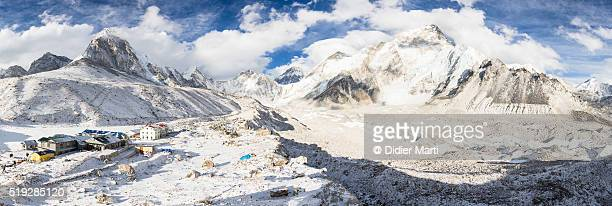 Everest base camp Panorama in Nepal