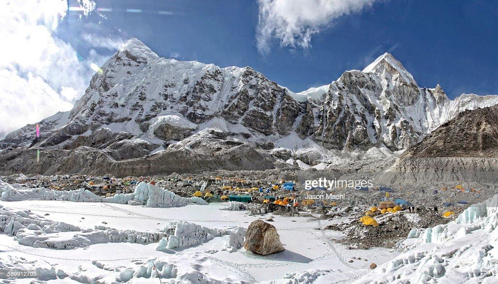 Everest base camp : Stock Photo