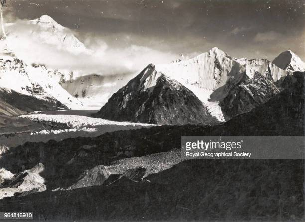 Everest from shelf south west of first advanced camp China May 1921 Mount Everest Expedition 1921