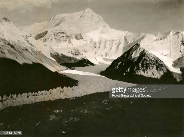 Everest from shelf south west of first advanced camp Tibet 7792 Mount Everest Expedition 1921