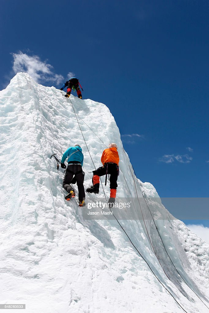 Everest Mountaineers - Nepal : Stock Photo