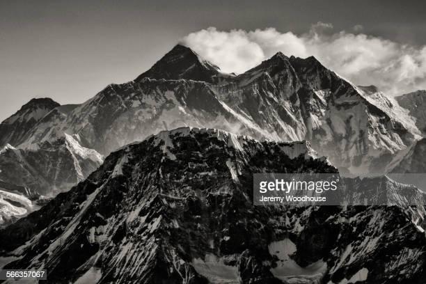Everest mountains under clear sky, Kathmandu, Kathmandu Valley, Nepal