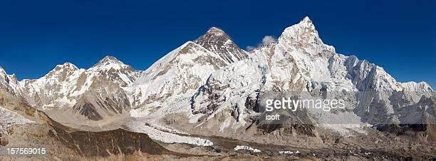 everest. nuptse. lhotse.  nepal motives. - khumbu stock pictures, royalty-free photos & images
