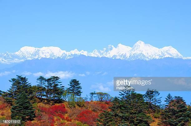 Everest Range from Sandakphu to Phalut Trek Route