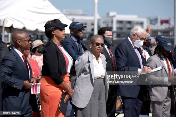 Everett Lott, the interim Director of the District Department of Transportation for DC, DC Mayor Muriel Bowser, Eleanor Holmes Norton, District of...