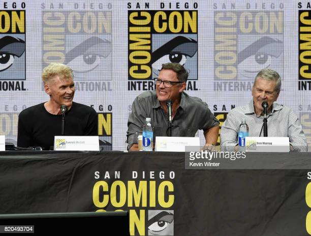 Everett McGill Matthew Lillard and Don Murray attend 'Twin Peaks A Damn Good Panel' during ComicCon International 2017 at San Diego Convention Center...